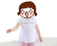 2016 summer baby carton ruffle cuff clothes lovely polo neck princess style girls tshirt 10118