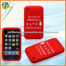 For Apple iPhone 3G 3GS IN CASE OF EMERGENCY BREAK DANCE Design Mobile phone silicone cover
