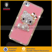Crystal Bling Diamond Cat Pattern Hard Back Cover Case For Iphone 5 5G