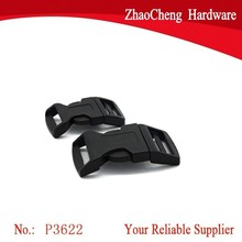 20mm Black Plastic Curved Side Release Buckles