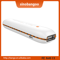 2600mAh Orange 5V 1A Power Bank Charge Discharge Indicators Slim Design