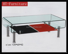 the new style artistic tempered glass coffee table