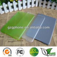 transparent color pc case for ipad mini