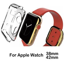 Preminium clear transparent tpu gel case for apple watch 42mm and 38mm