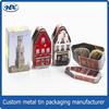 Luxury christmas decor gift tin boxes pen shape chocolate tin box custom tin box