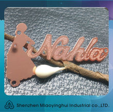 Low price letter metal business cards for cut leter metal tags in metal arts