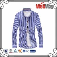 2015 hot sale long sleeve formal stripe dress casual shirt for men