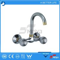2014 Exquisite Foot Operated Taps,Double Handle Kitchen Faucets