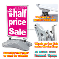 A1 Snap Outdoor Poster Display Stand / Water Base - Portable Outdoor Sidewalk