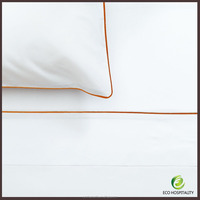 100% Cotton Satin White Embroidery Bed Sheets in Guangdong
