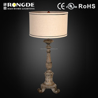 Wood material golden noble table lamp