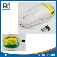 New USB wireless rechargeable liquid mouse optical with customize design floater