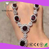 Hong Kong Jewelry Wholesale Mozambique Garnet Sterling Silver Necklaces