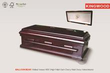 BALLOON BEAR Animal Wood Casket Walnut veneer wholesale pet cremation caskets