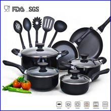 popular 15pcs non-stick cookware set with non-stick coating