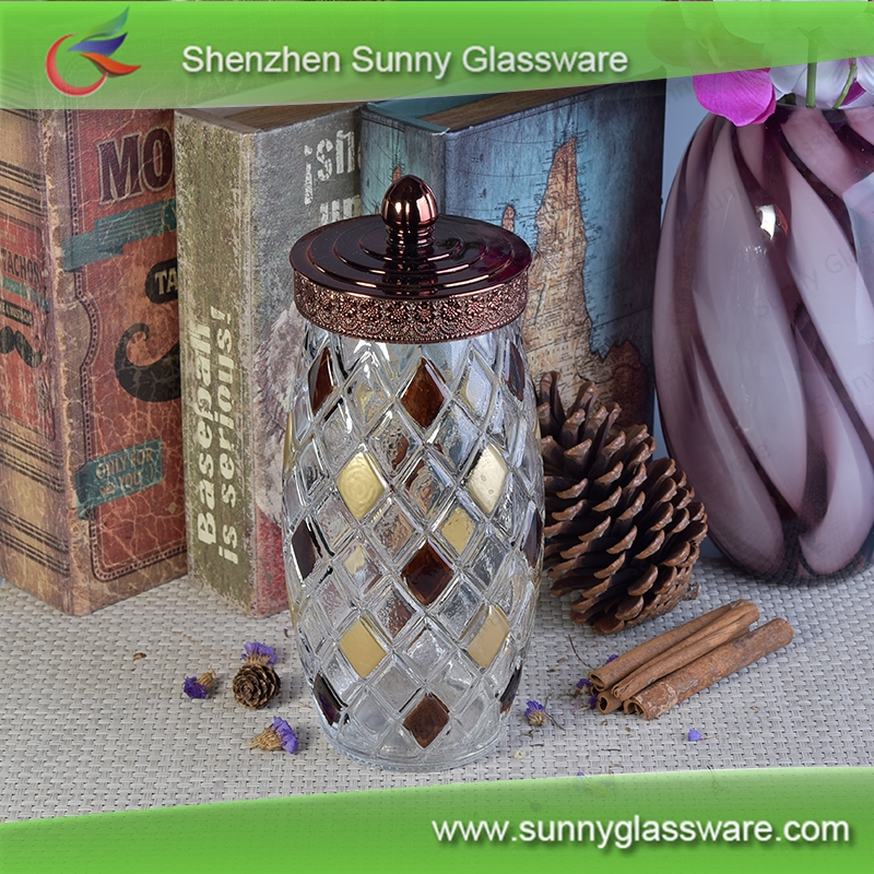 Glass Material glass mason jar with metal lid and straw