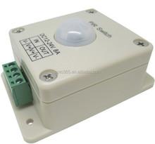 12Volt 8A PIR Switch - Motion Sensor Dimmer Controller for Single LED Strip Lights