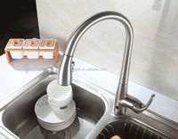 China New Design Hand And Auto Dual-Use Stainless Steel Automatic Kitchen Faucet