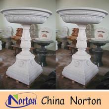 Cheap Flower Pots Garden Decorative Pots Chinese Stone Pots NTMF- F140S