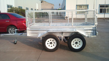 single motorcycle trailer hydraulic dump trailer