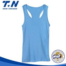 Wholesale Customized Plain Racerback Tank Tops