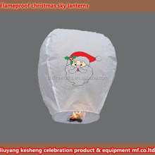 Flameproof christmas sky lanterns for wholesales