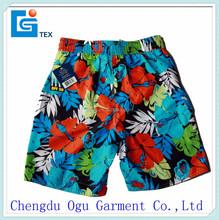stylish quality microfiber polyester elastic waist boxer swim shorts for men