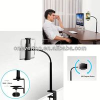 Best seller Gooseneck Arm Tablet Holder/Mount/Clamp/Stand for 7-10 inch Table PC(TS-TPH01C)