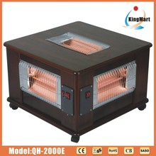 Black Wooden Five sides Electric heater