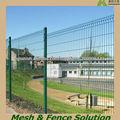 Verde PVC Recubierto de Alambre Soldado Valla Fabricante