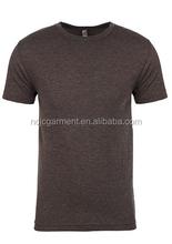 2015 Men New Fashion Custom Label Tri-blend 50% Polyester 25% Cotton 25% Rayon T Shirt