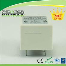 PE1002 white plastic housing with PCB EMC filter din rail mount