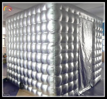 2015 advertising inflatable led cube tent / inflatable cash cube