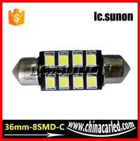 10 x 36mm White LED Dome Festoon Map Light Bulb 8 SMD Canbus Error Free Festoon CANBUS LED