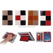 DIHAO Genuine Leather Folio Case for Apple ipad 2/3/4/5/Air/mini case with credit card slot
