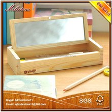 wooden pencil box pen box wooden stationery box