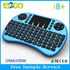 Top selling colorful i8plus mini wireless keyboard air mouse with hebrew keyboard for smart tv