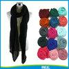 fashion good quality plain black voile scarf
