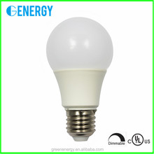 UL certificated energy saving led lamp A60 9w led light bulb dimmable led bulb