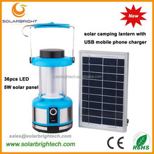 With USB charger FM radio emergency portable solar energy powered led solar camping light