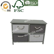 Simple and attractive wood 4 drawer file cabinet