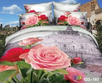 Beautiful Pink Roses and Iconic St Peters Basilica 3d stylish bedding