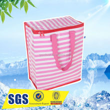 printing foldable pp woven or pp non woven cooler bag for beer bottle