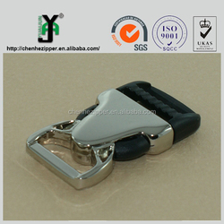 luggage parts semi metal and plastic material side release buckle