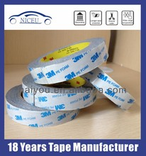 die cut Double sided adhesive PE foam mounting tape 3M 1600T, white color, 1.0mm thickness