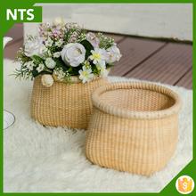 Grande flor decorativa vaso de bambu