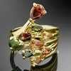 2011 Fashion Ruby Emerald Crystals GP large Cocktail Ring