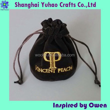 Round jewelry bags velvet pouch micro fiber gift bags