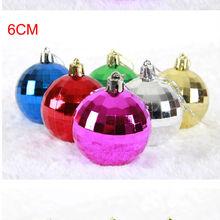 Caliente venta claro bola cristal del ornamento de la navidad árbol de navidad balón colgado
