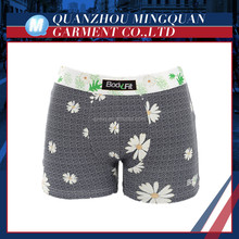 top quality printing flower men boxer briefs underwear